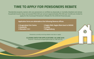Time to apply for Pensioners Rebate
