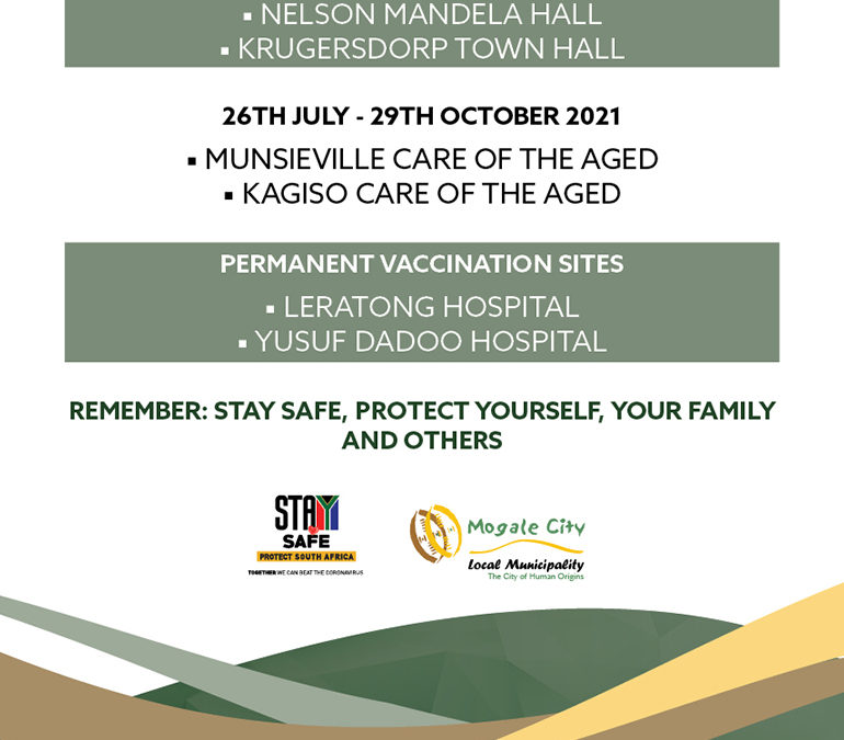 Updated vaccination site locations